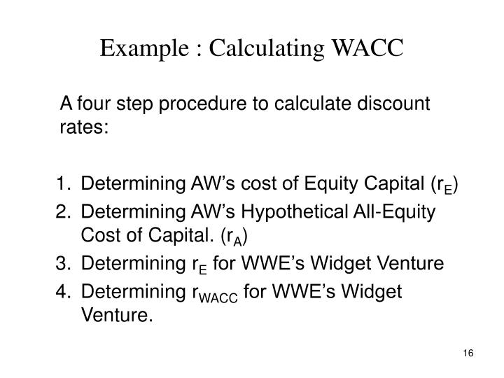 Example : Calculating WACC
