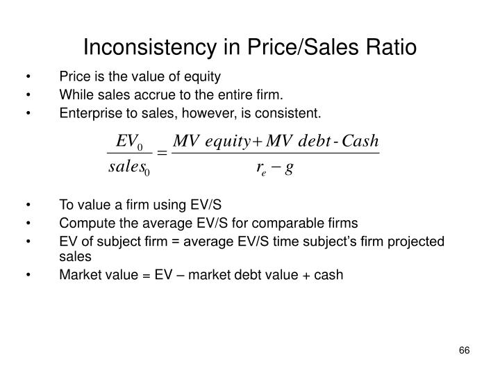 Inconsistency in Price/Sales Ratio