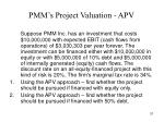 pmm s project valuation apv