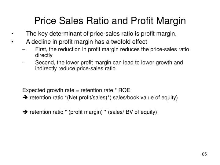 Price Sales Ratio and Profit Margin