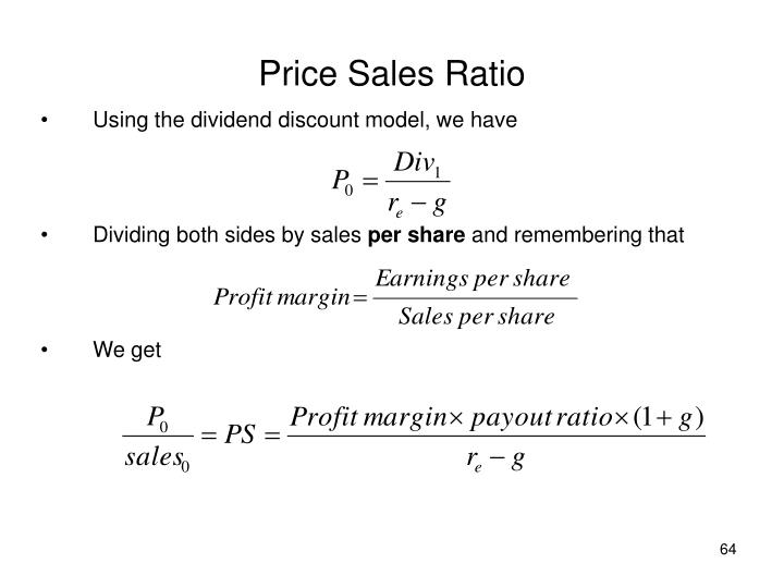 Price Sales Ratio