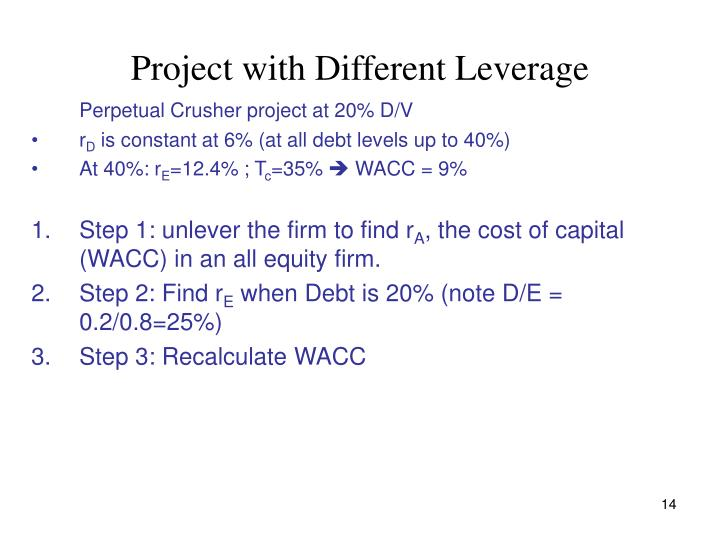 Project with Different Leverage