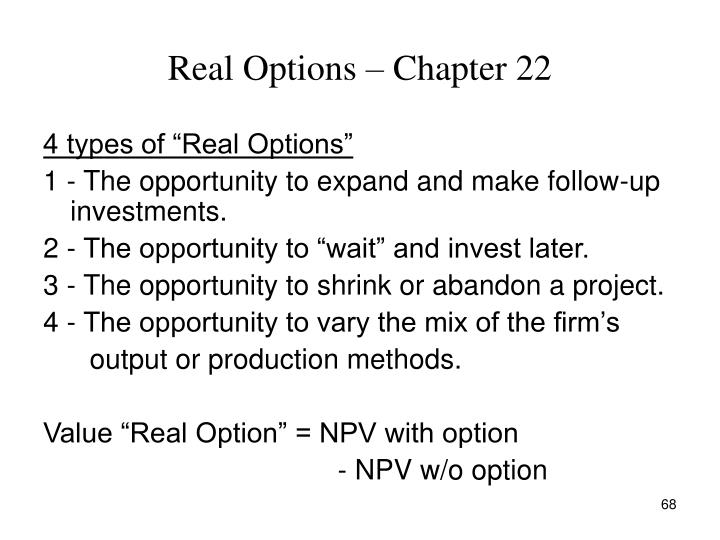 Real Options – Chapter 22