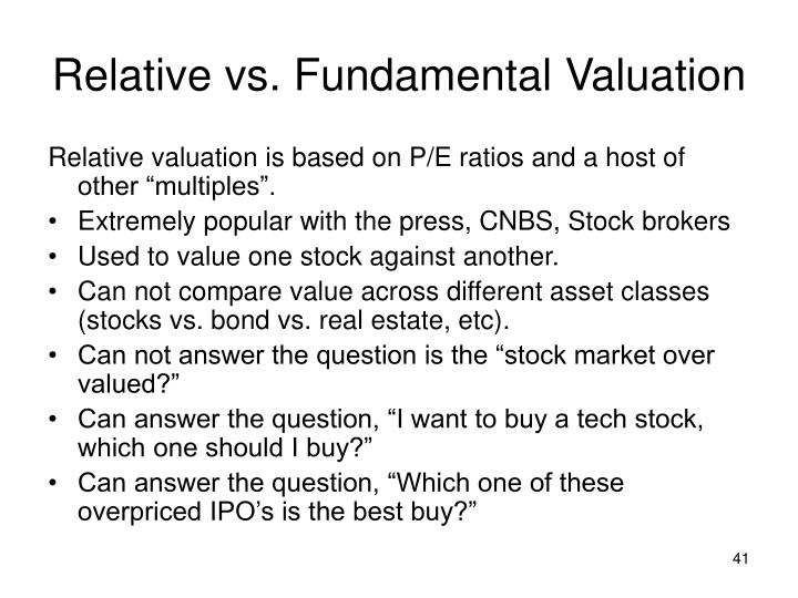 Relative vs. Fundamental Valuation