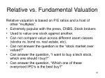 relative vs fundamental valuation1