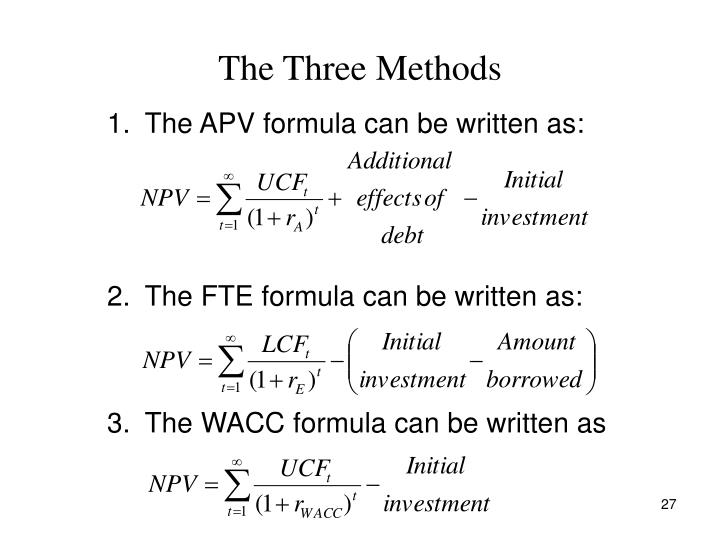The Three Methods