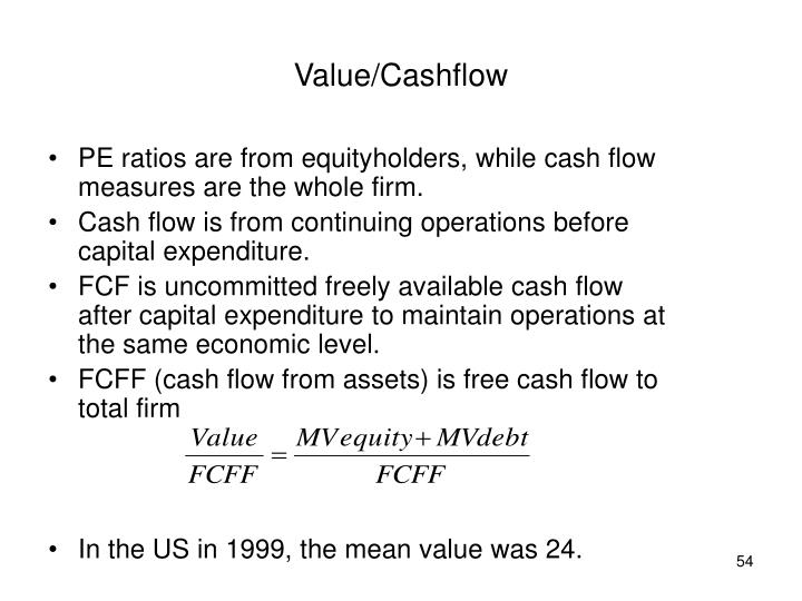 Value/Cashflow