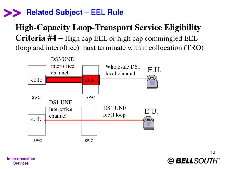 DS3 UNE interoffice channel