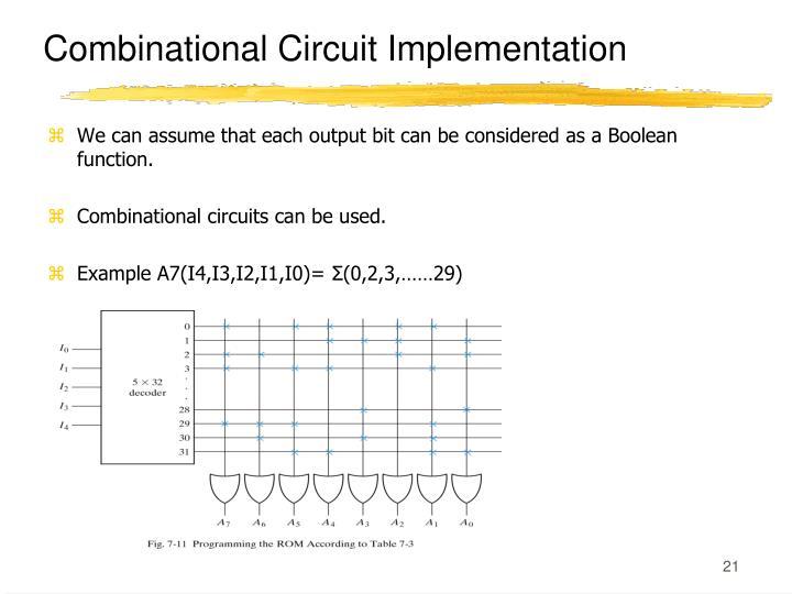Combinational Circuit Implementation