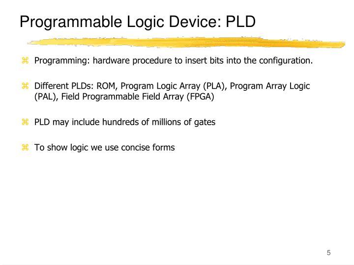 Programmable Logic Device: PLD