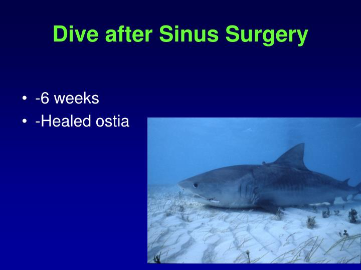 Dive after Sinus Surgery