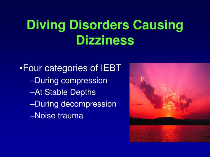 Diving Disorders Causing Dizziness