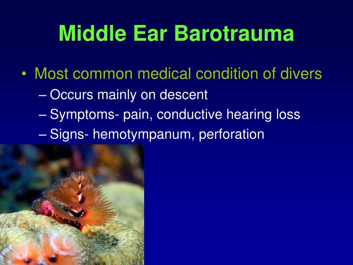 Middle Ear Barotrauma