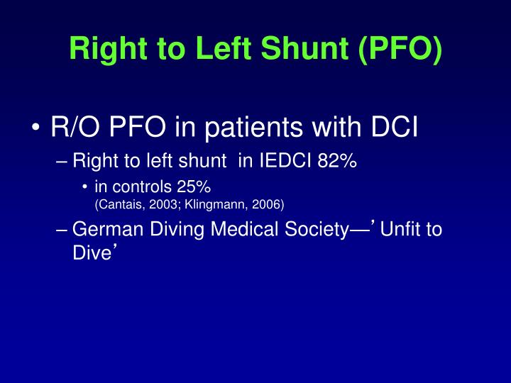 Right to Left Shunt (PFO)