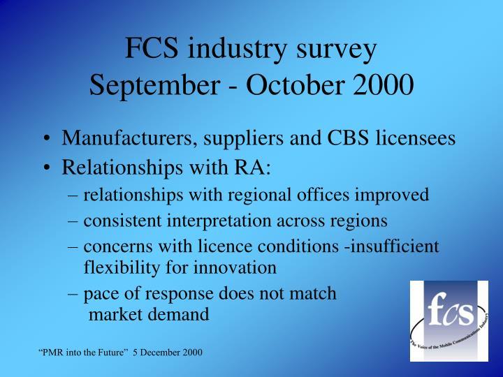FCS industry survey