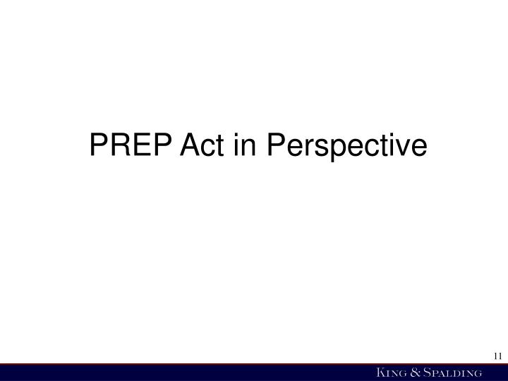 PREP Act in Perspective