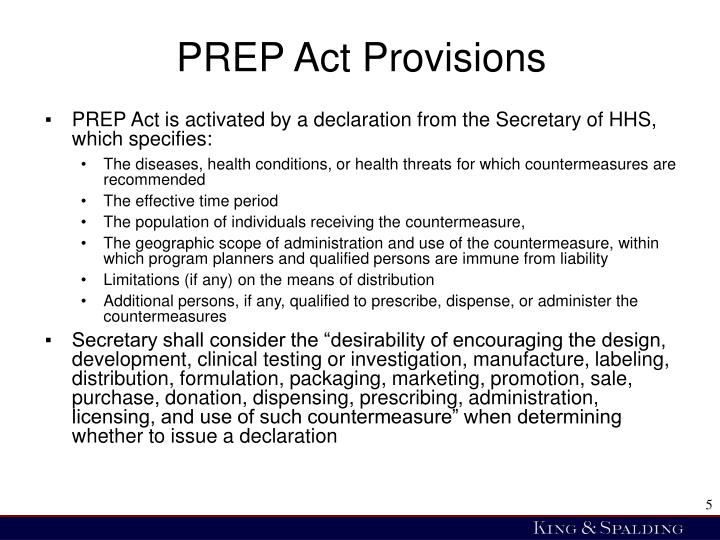 PREP Act Provisions