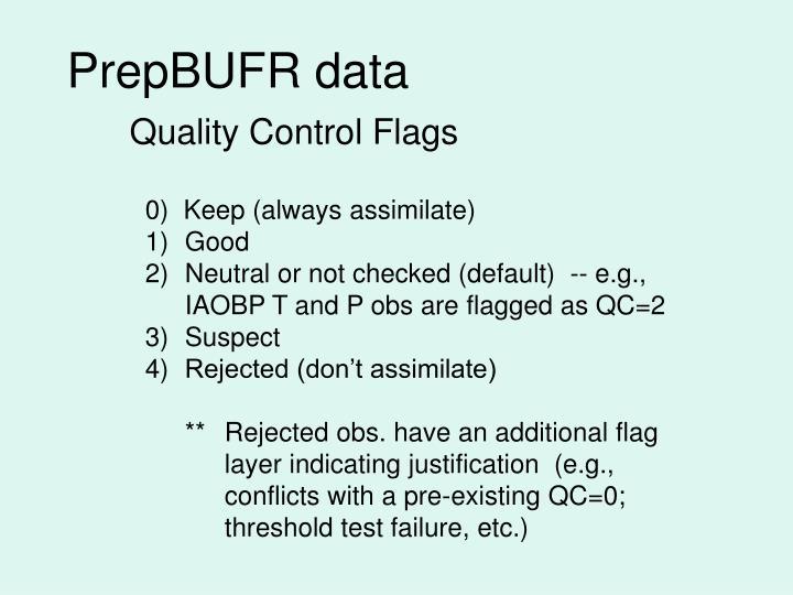 PrepBUFR data