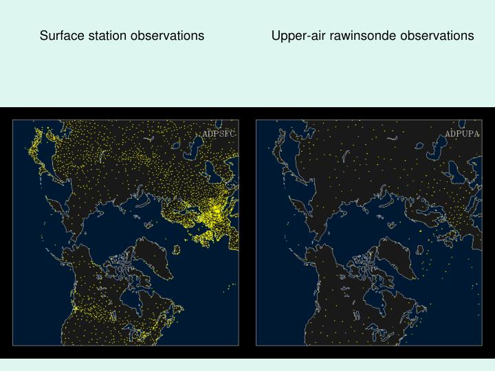 Surface station observations