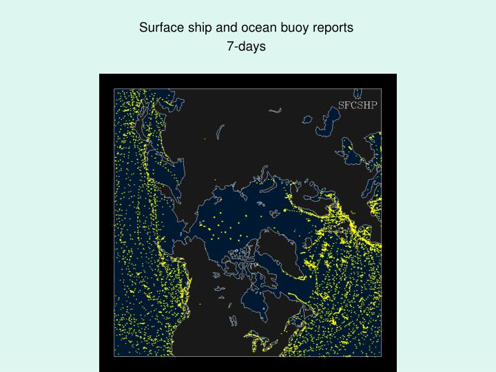Surface ship and ocean buoy reports
