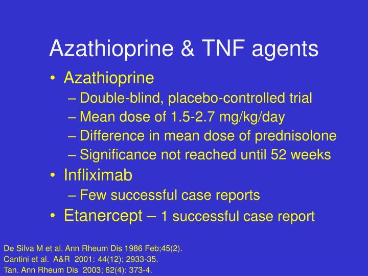 Azathioprine & TNF agents