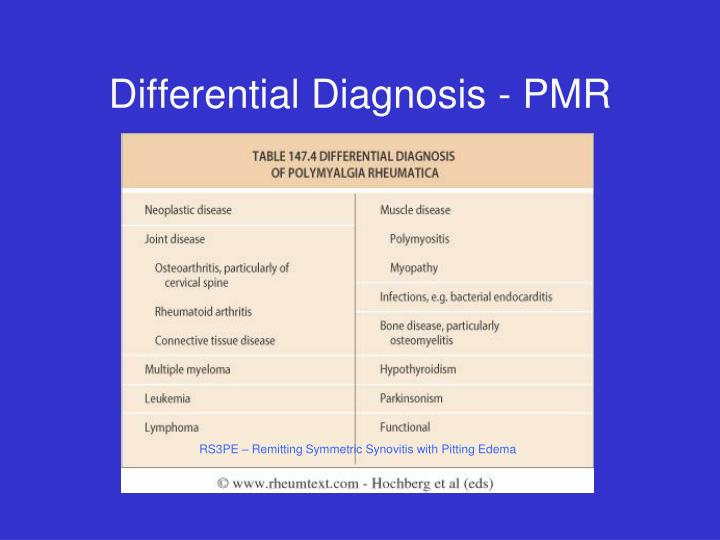 Differential Diagnosis - PMR