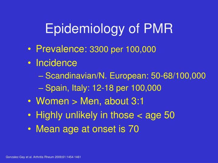 Epidemiology of PMR