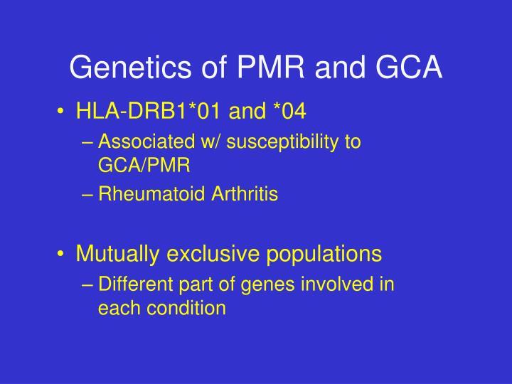 Genetics of PMR and GCA