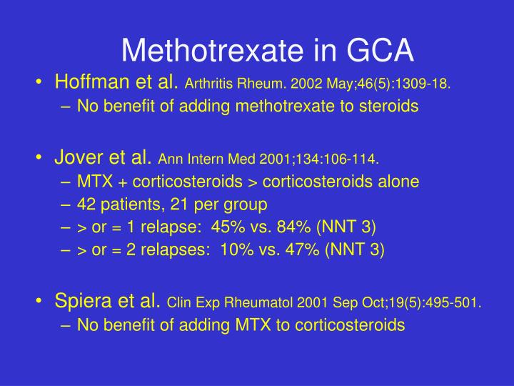 Methotrexate in GCA
