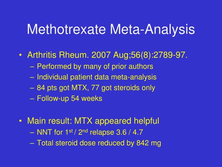 Methotrexate Meta-Analysis