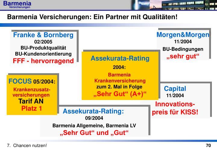 Barmenia Versicherungen: Ein Partner mit Qualitäten!