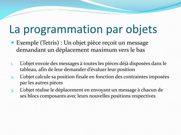 La programmation par objets