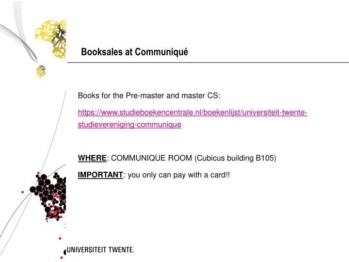 Booksales at Communiqué