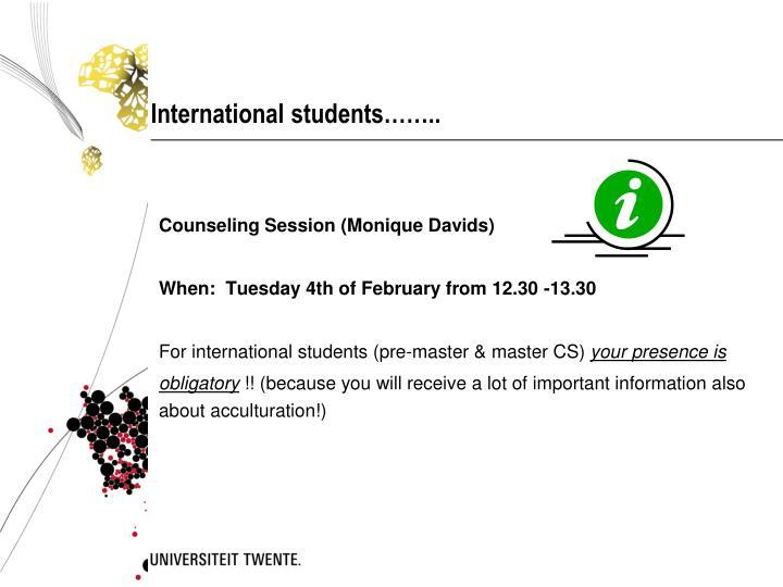 International students……..