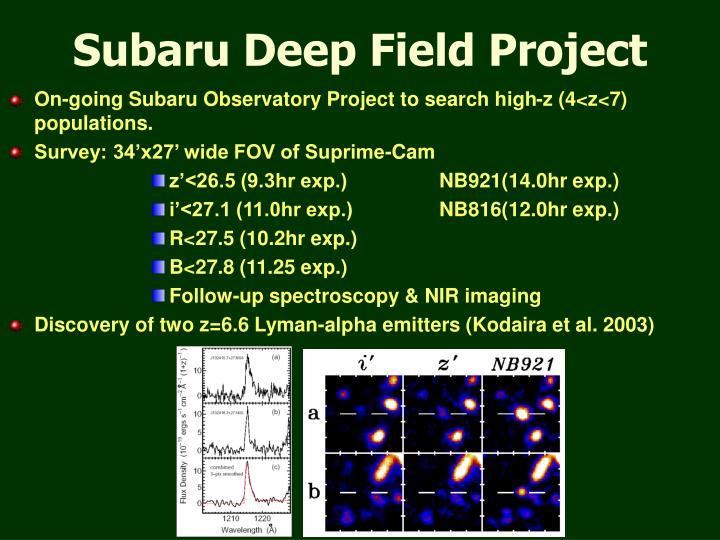 Subaru Deep Field Project