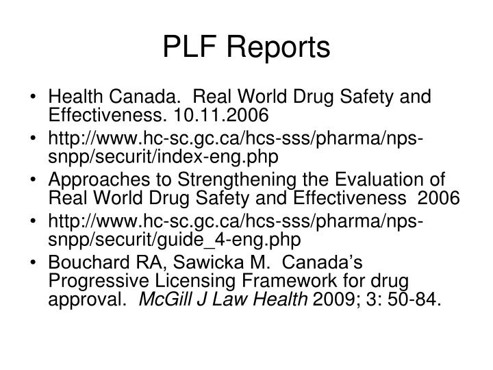 PLF Reports