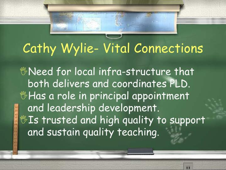 Cathy Wylie- Vital Connections