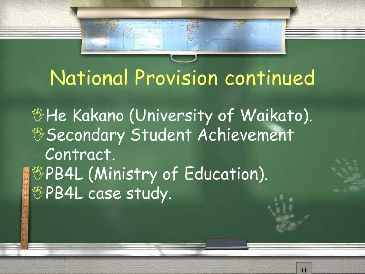 National Provision continued