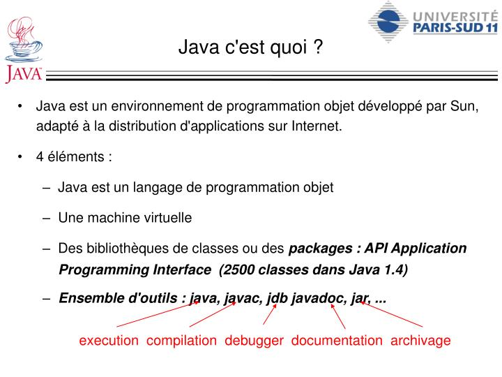 execution  compilation  debugger  documentation  archivage