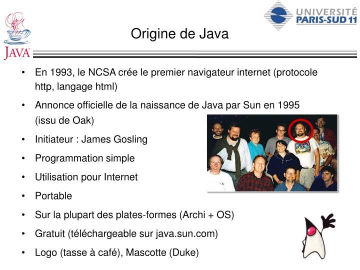 Origine de Java
