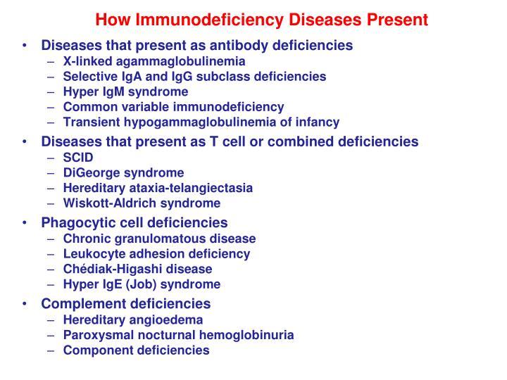How Immunodeficiency Diseases Present
