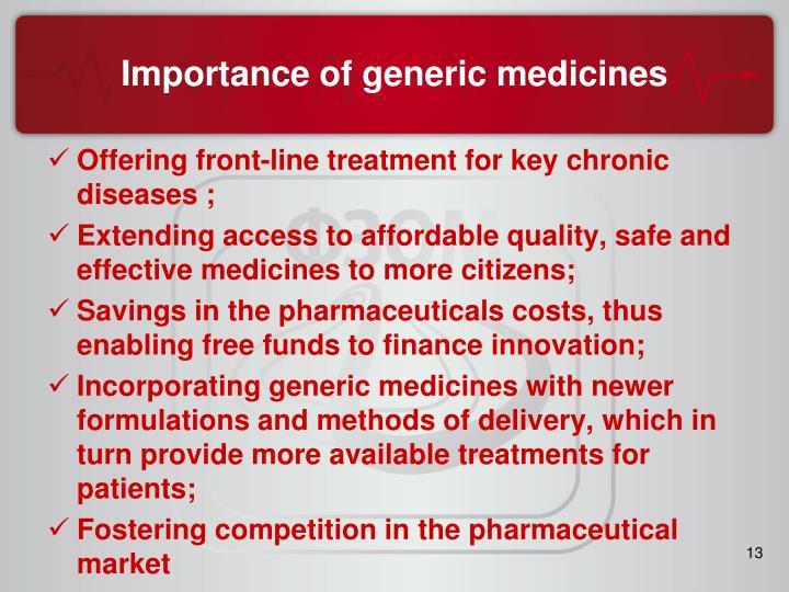 Importance of generic medicines