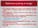 reference pricing of drugs