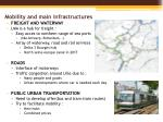 mobility and main infrastructures1