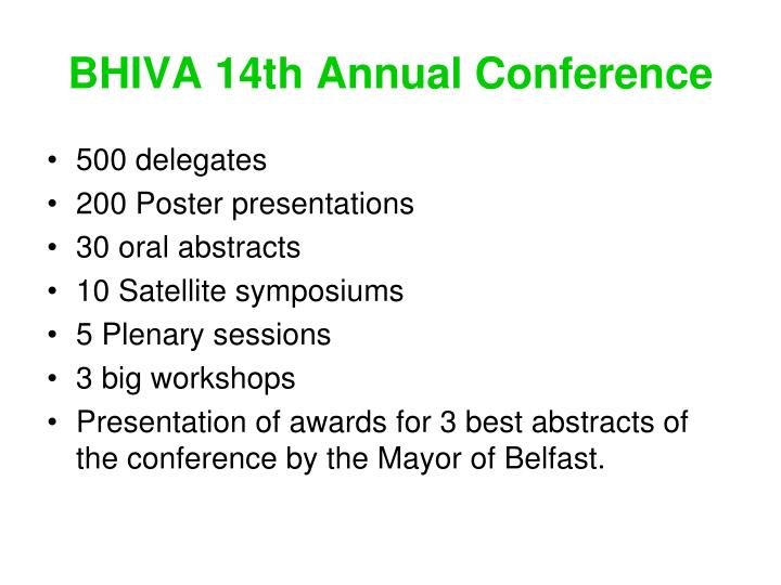 BHIVA 14th Annual Conference