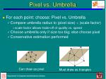 pixel vs umbrella