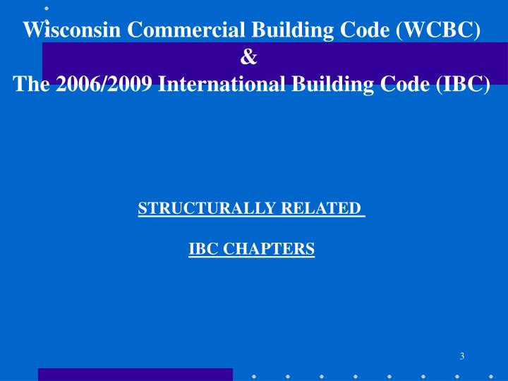 Wisconsin Commercial Building Code (WCBC)