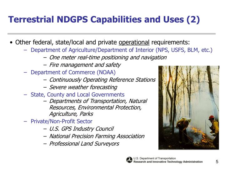 Terrestrial NDGPS Capabilities and Uses (2)