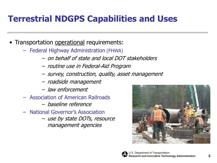 Terrestrial NDGPS Capabilities and Uses