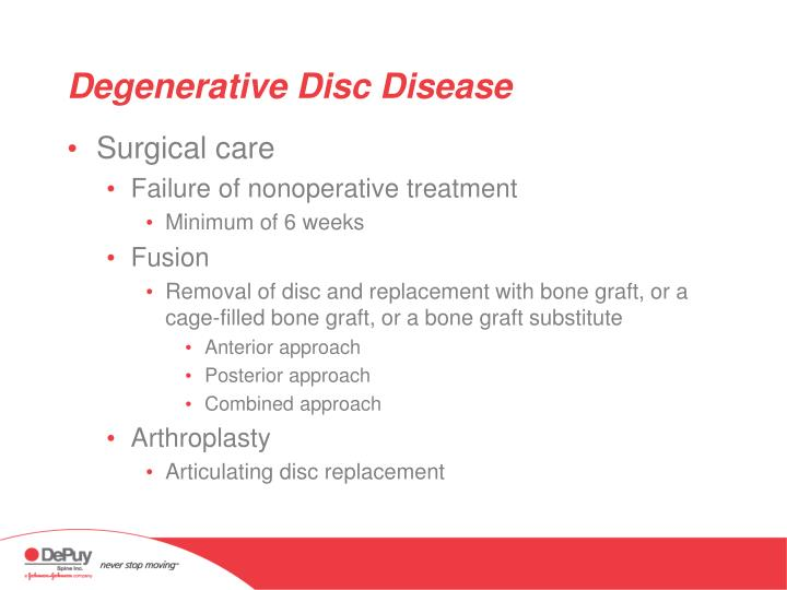 Degenerative Disc Disease